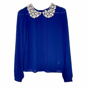 Xhilaration Sheer Longsleeve blouse